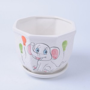 Personalized Artificial Elephant Shaped Mini Ceramic Animal Flower Pot