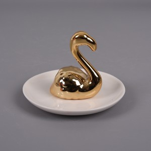 Ring Holder Flamingo Ceramic Trinket Jewelry Dish Plate Animal Tropical Personal