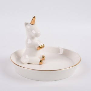 Ceramic Jewelry Tray Ring Holder Trinket Dish Necklace Earrings Rings Jewelry Organizer Display