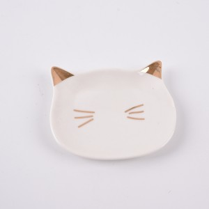 Trinket Tray Ceramic Cat