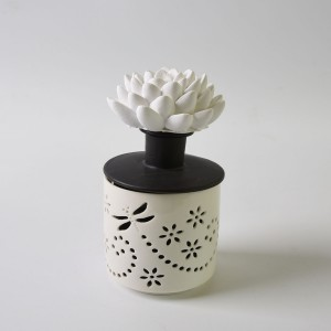 Diffuser Bottle Ceramic Sun Flower/Feather/Flower/Butterly Aroma Ceramic Fragrance Diffuser