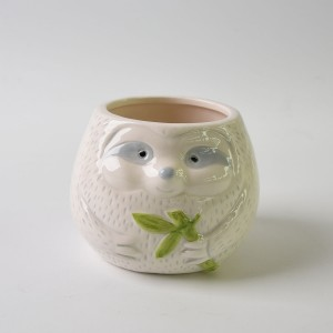 Ceramic Sloth Flower Planter Pot or sloth cup