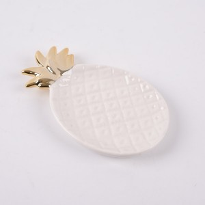 Ceramic White Pineapple Dish