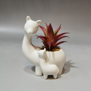 Ceramic Llama Planter, Small