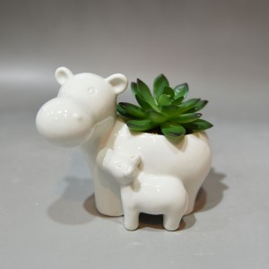 Cute Cow Animal Succulent Planter Flower Pot Decor for Home Office Desk