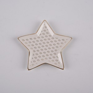 Ceramic 'Never Stop Dreaming' Star Trinket Trays