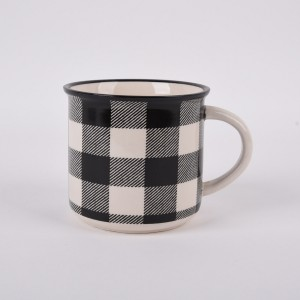 Lattice ceramic cup office home boiling water teacup