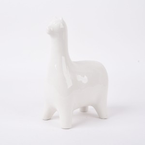 Ceramic llama decor, clay llama nursery money bank, llama Birthday Party, Alpaca home design