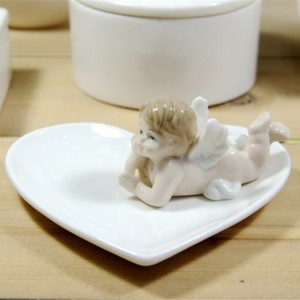 Ceramic Ring Holder with Angel
