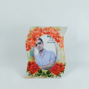 delicate display ceramic photo frame with flower decoration as a gift
