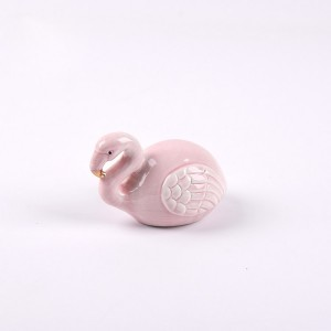 Lovely Flamingo Money Box Piggy Bank Children Ceramic