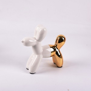 Ceramic Balloon Dog Piggy Bank Decor