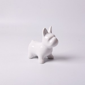 white ceramic animals dog piggy bank