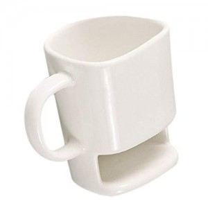 Cafurty 250ml Dunk Mug - Ceramic Cookies Mug with Biscuit holder