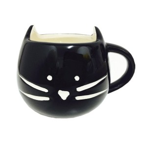 Ceramic Lovely Cute Little Black Cat Coffee Milk Ceramic Mug Cup