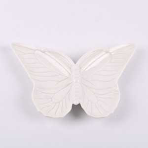 Home decoration ceramic butterfly shape tealight candle holder