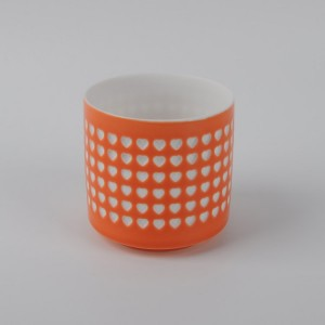 Wholesale ceramic candle holder cup with low price