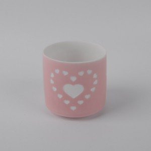 Hot ceramic candle holder cup with low price