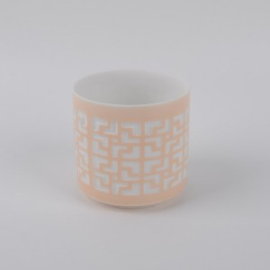 Ceramic Tealight candle holders with cutout