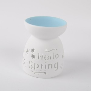 High Quality Ceramic Oil burner, Ceramic Aroma Burner white