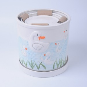 The animal design of rabitt,bird,duck,sheep on ceramic flower pot for garden