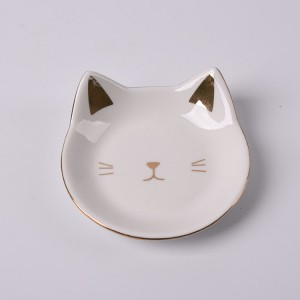 Ceramic Cat Trinket Dish