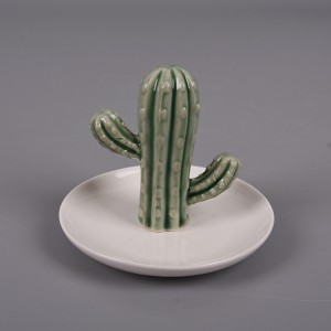 Cactus Jewelry Ring Holder Dish Holder