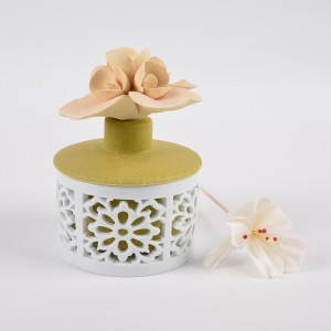 ceramic Ultrasonic Humidifier essential oil aroma flower
