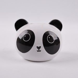 Promotion ceramic cute sitting panda money bank 3d panda coin bank