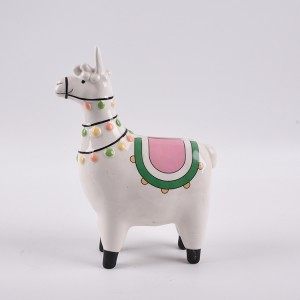Llama money bank alpaca shape ceramic coin bank