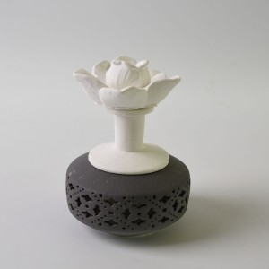 Fragrance Rose Aroma Porcelain Diffuser Ceramic Flower