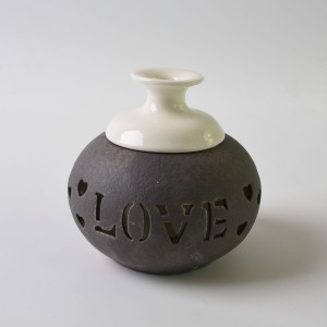 Love Pumpkin shape home ceramic bottle aroma flower/perfume rattan reed diffuser