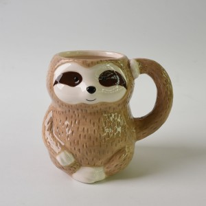 Cute sloth coffee mug, Hand painted 500 ml big size sloth mug gift ware