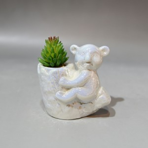 Streamline Ceramic Bear Flower Planter Pot