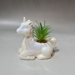 Streamline Sweet Unicorn Porcelain Flower Planter Pot