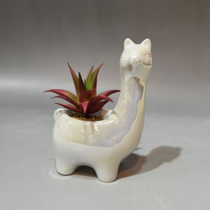 Streamline Alpaca Decorative Ceramic Planter Pot