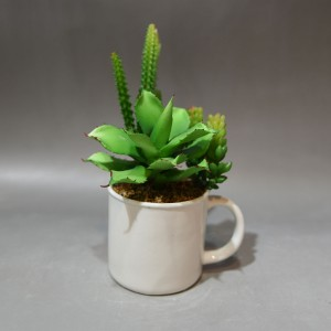 Small Cement Tea Mug Planter