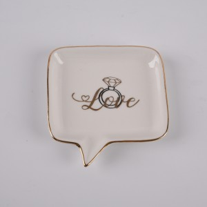 'Love' Ceramic Trinket Tray