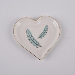 Ceramic Feather Trinket Dish