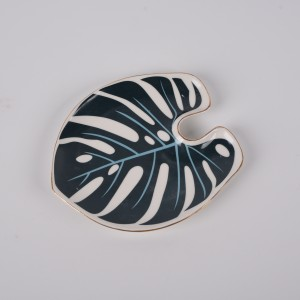 Palm Leaf Trinket Dish Porcelain