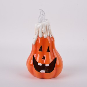Hallow halloween ceramic pumpkin lantern ghost lantern hotel bar decoration props