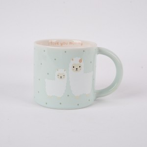 Ceramic cup office home boiling water tea cup  Sheep pattern