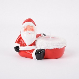 Ceramic Santa Claus Candle Holder
