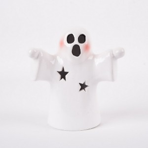Fancy style hand paint pumpkin shape ceramic halloween accessories for home decoration