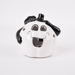 halloween ceramic candle jar