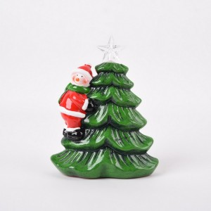 Indoor christmas decoration santa claus figurines tabletop stands led