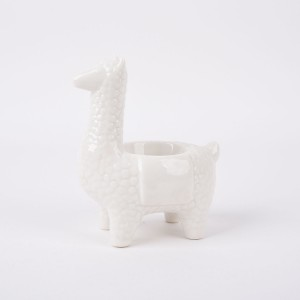 Details about Decorative Ceramic Llama Tabletop Decor