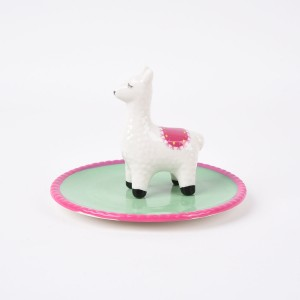 4-IN. CERAMIC LLAMA RING PLATE 4-IN. CERAMIC LLAMA RING PLATE