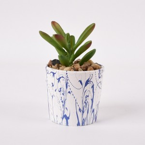 wholesale new design ceramic marble design succulent planter pots for plant ceramic pot