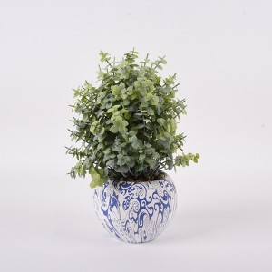 Artificial wall hanging flower plant leaves silk ceramic pots